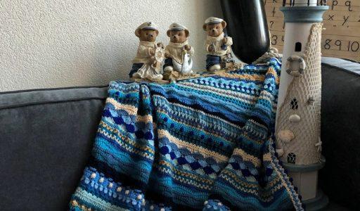 Aan de haak blog 64 de Sea Side deken hoofdfoto