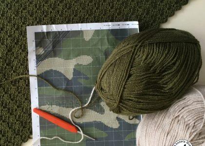 Een gehaakte c2c camouflagedeken (haakblog 1)