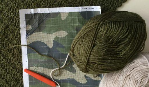 aan de haak blog 1 met een c2c camouflagedeken hoofdfoto