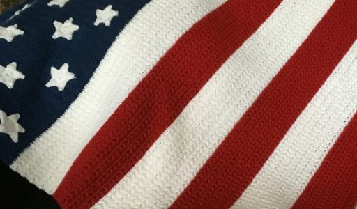 aan de haak blog 14 een Amerikaanse stars and stripes deken hoofdfoto
