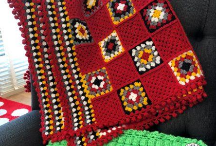 Een gehaakte deken van granny squares en stripes (haakblog 56)