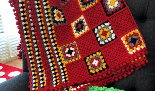 aan de haak blog 56 een granny squares en stripes deken