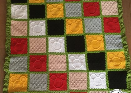 Een gehaakte katoenen Mickey Mouse deken (haakblog 7)
