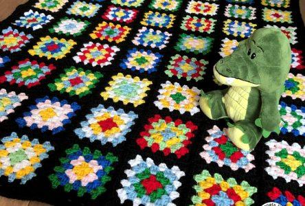 Een gehaakte chunky granny square deken (haakblog 80)