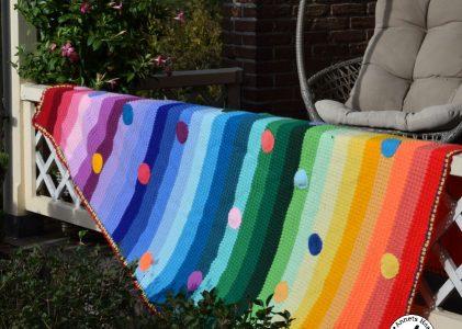 Een gehaakte regenboogdeken (haakblog 9)