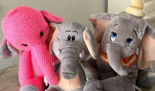aan de haak met een amigurumi-olifantje