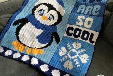 Een gehaakte c2c pinguïndeken (haakblog 100)