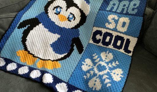 een gehaakte c2c pinguïndeken haakblog
