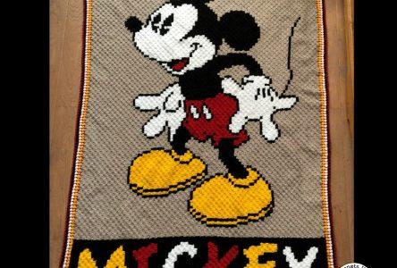 Een gehaakte corner to corner Mickey deken (haakblog 45)