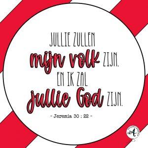 Handlettering Digilettering Bijbelteksten Jeremia 30 vers 22