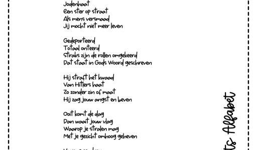 gedichten actualiteit holocaust zwart-wit