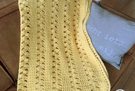 Een gehaakte chenille deken (haakblog 110)